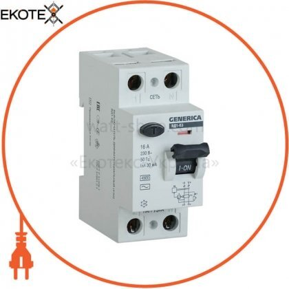 IEK MDV15-2-040-030 выключатель дифференциальный (узо) вд1-63 2р 40а 30ма generica