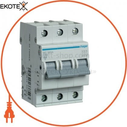 Hager MC363A автоматический выключатель 3p 6ka c-63a 3m