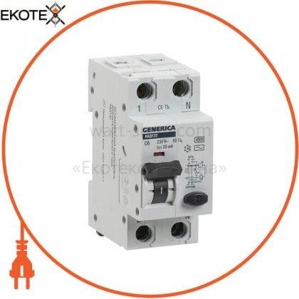 IEK MAD25-5-006-C-30 автоматический выключатель дифференциального тока авдт32 c6 generica