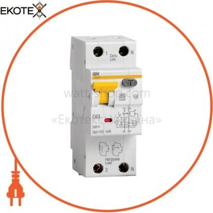 IEK MAD22-5-016-C-30 автоматический выключатель дифференциального тока авдт32 c16 iek