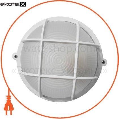 Ecostrum 71992 светильник нпп-65 круг белый опал.с решеткой пс-1051-11-1/1