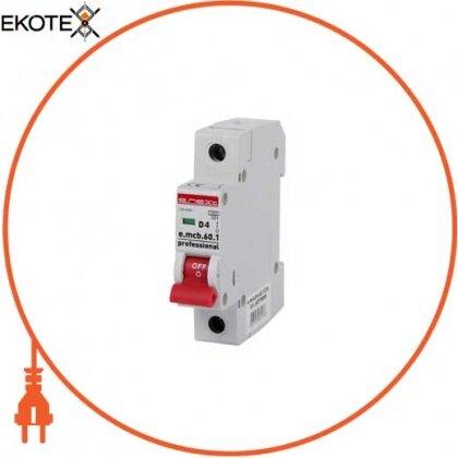 Enext p0710004 модульный автоматический выключатель e.mcb.pro.60.1.d.4 , 1р, 4а, d, 6ка