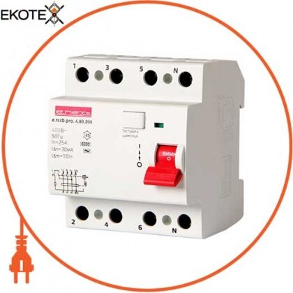 Enext p003030 выключатель дифференциального тока e.rccb.pro.4.80.300, 4р, 80а, 300ма