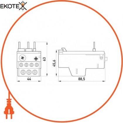 Enext i0110002 тепловое реле e.industrial.ukh.22.2,5, номин. ток 22а, гиап. регул. 1,6 - 2,5 а