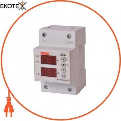 Enext p0690015 реле контроля напряжения и тока однофазное 25а с индикацией e.control.v10