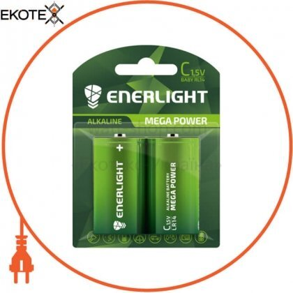 Enerlight 90140102 батарейка enerlight mega power c bli 2