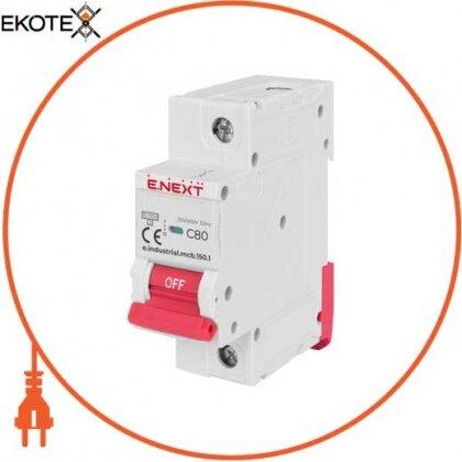 Enext i0630039 модульный автоматический выключатель e.industrial.mcb.150.1.c80, 1р, 80а, c, 15ка