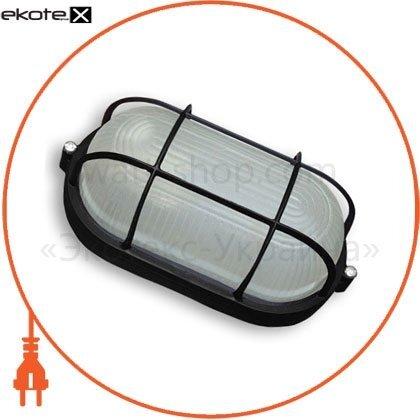 Ecostrum 68663 светильник 100w овал черный с решеткой