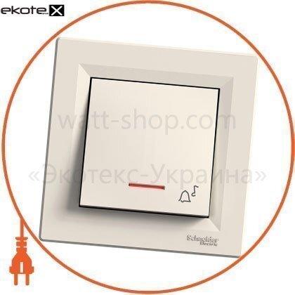 """Schneider EPH1700123 кнопка """"д-к"""" с подсветкой самозажим крем"""