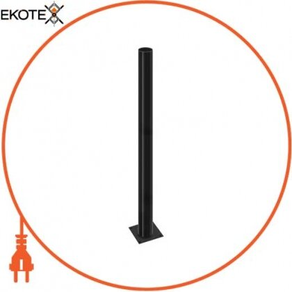 Enext l0120061 опора стальная e.street.bollard.st.1000.black, высота 1000мм, диаметр 60мм, черная