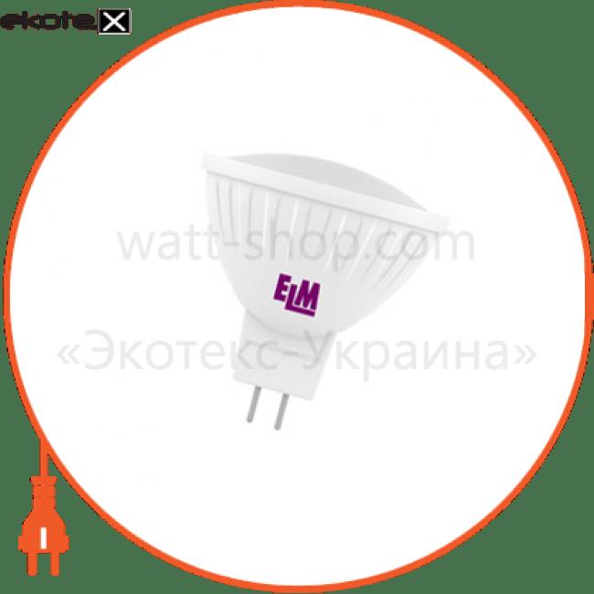лампа светодиодная mr-16 pa-21 5w gu5,3 3000k алюмопласт. корп. 18-0002 светодиодные лампы electrum ELM 18-0002