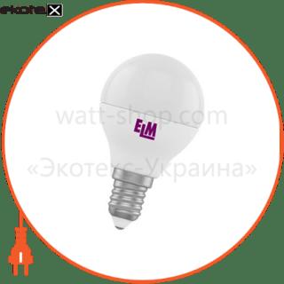 лампа светодиодная шар pa11 4w e14 4000k алюмопласт. корп. 18-0016 светодиодные лампы electrum ELM 18-0016