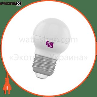 лампа светодиодная шар pa11 4w e27 4000k алюмопласт. корп. 18-0015 светодиодные лампы electrum ELM 18-0015