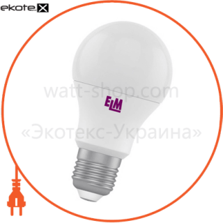 лампа светодиодная стандартная b60 pa-10 8w e27 4000k алюмопл. корп. 18-0024 светодиодные лампы electrum ELM 18-0024