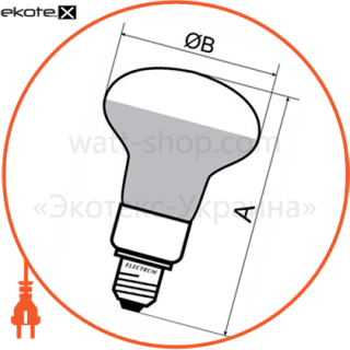 лампа энергосберегающая fc-703 r50 9w e14 4000k  a-fc-0702 энергосберегающие лампы electrum Electrum A-FC-0702