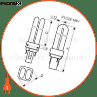 лампа компактная pl-c22 18w/4000 g24d-2  - a-fc-0166 энергосберегающие лампы electrum Electrum