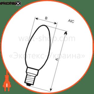 лампа светодиодная свеча lc-5 4w e27 2700k алюмопластиковый корп.  a-lc-1805 светодиодные лампы electrum Electrum A-LC-1805