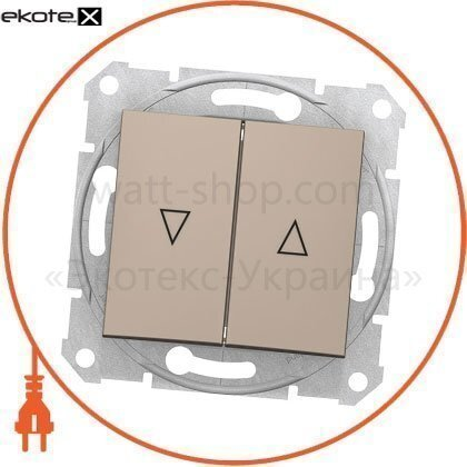 Sedna Кнопка для жалюзи с 10AX электрическим замком, без рамки титан