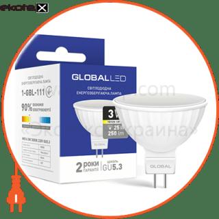 led лампа global mr16 3w теплый свет gu5.3 (1-gbl-111) светодиодные лампы global Global 1-GBL-111