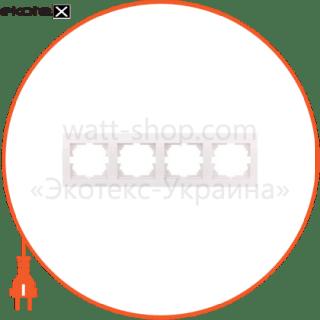 рамка четырехместная deriy горизонтальная кремовый 702-0300-149 рамка Lezard 702-0300-149