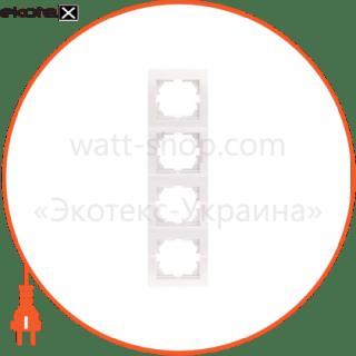 рамка четырехместная deriy вертикальная кремовый 702-0300-154 рамка Lezard 702-0300-154