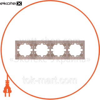 рамка 4-ая горизонтальная б/вст рамка Lezard 701-0300-149