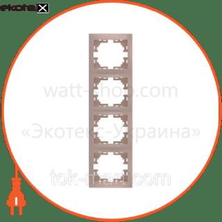 рамка четырехместная mira вертикальная кремовый 701-0300-154 рамка Lezard