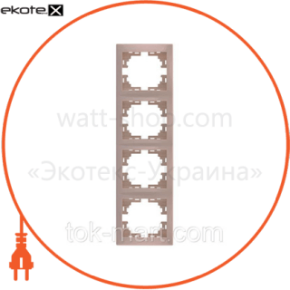рамка 4-ая вертикальная б/вст рамка Lezard 701-0300-154