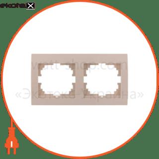 рамка двухместная deriy горизонтальная кремовый 702-0300-147 рамка Lezard 702-0300-147