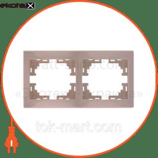 рамка двухместная mira горизонтальная кремовый 701-0300-147 рамка Lezard 701-0300-147