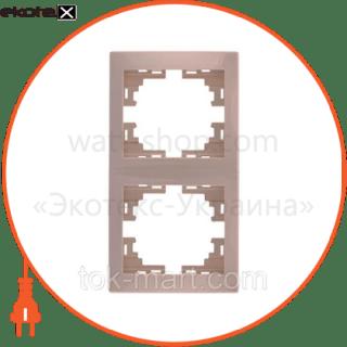 рамка 2-ая вертикальная б/вст рамка Lezard 701-0300-152