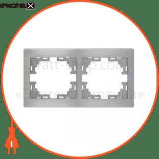 рамка mira, 2-ая горизонтальная без вставки, металлик серый (701-1000-147) рамка Lezard 701-1000-147