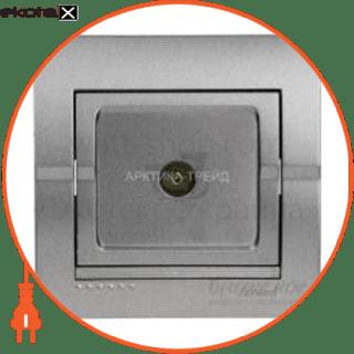 702-2929-129 Lezard розетка розетка tv проходная deriy темно-серый металлик 702-2929-129