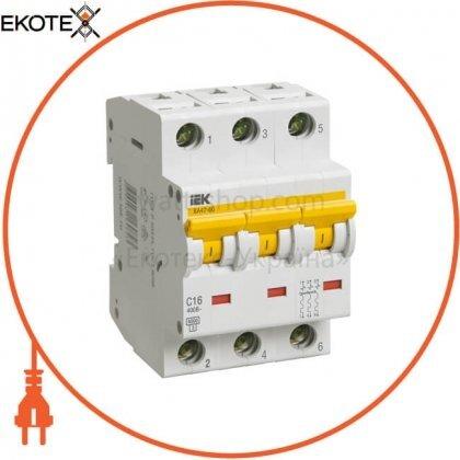 IEK MVA41-3-016-C автоматический выключатель ва47-60 3р 16а 6ка с iek