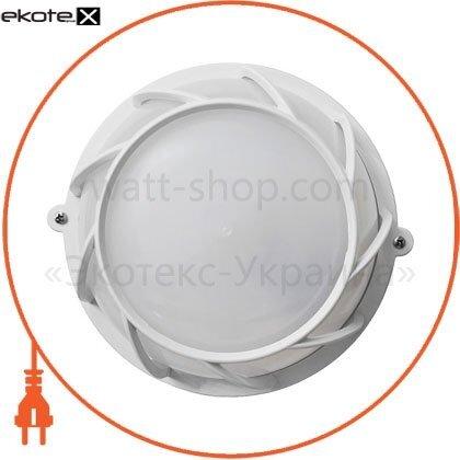 Ecostrum ПП-1051-07-3/6 светильникнпп-65 круг белый опал.с решеткой пп-1051-07-3/6