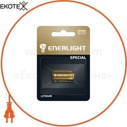 Enerlight 71230101 батарейка enerlight lithium cr 123a bli 1