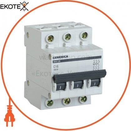 IEK MVA25-3-016-C автоматический выключатель ва47-29 3р 16а 4,5ка с generica