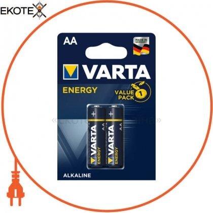 Varta 4106229412 батарейка varta energy aa bli 2 шт