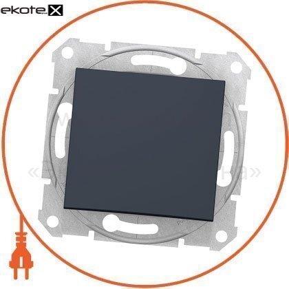 Sedna Кнопка 1полюсная, 10A, без рамки графит