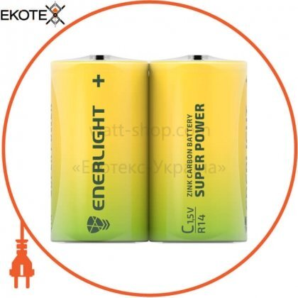 Enerlight 80140202 батарейка enerlight super power c fol2