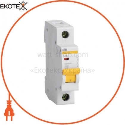 IEK MVA20-1-006-C автоматический выключатель ва47-29 1р 6а 4,5ка с iek