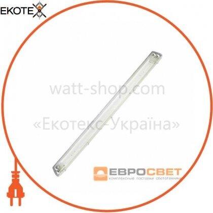 Евросвет 40623 світильник промисловий евросвет 2*1200мм під лампу т8 led-sh-45 з пластиной ip65 lens