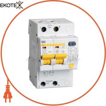 IEK MAD10-2-063-C-100 дифференциальный автоматический выключатель ад12 2р 63а 100ма iek
