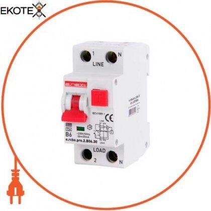 Enext p0720004 выключатель дифференциального тока с функцией защиты от сверхтоков e.rcbo.pro.2.b06.30, 1p+n, 6а, b, тип а, 30ма