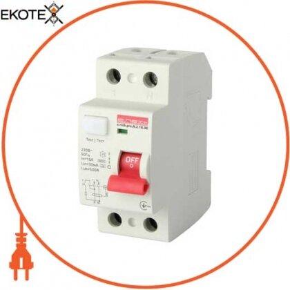Enext p080001 выключатель дифференциального тока e.rccb.pro.a.2.16.30, 2р, 16а, 30ма