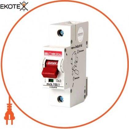 Enext i0630001 модульный автоматический выключатель e.industrial.mcb.150.1.d63, 1р, 63а, d, 15ка