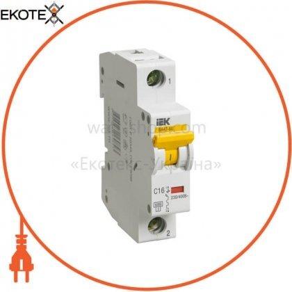 IEK MVA41-1-016-B автоматический выключатель ва47-60 1р 16а 6ка b iek