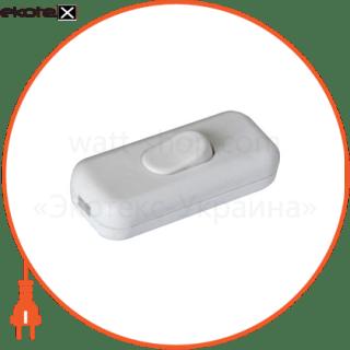 выключатель на шнур (белый) па-1201 арт. па-1201 выключатель АСКО-УКРЕМ ПА-1201