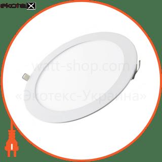 світлодіодна панель кругла-9вт (?145/?132) 4200k, 710 люмен светодиодные светильники lezard Lezard 442RRP-09