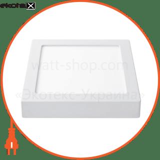 світлодіодна панель квадратна-18вт накладна (225x225) 6400k, 1440 люмен светодиодные светильники lezard Lezard 464SKP-18